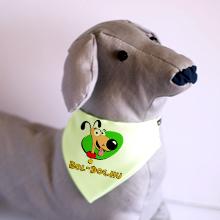Kutya kendő egyedi grafikával, zöld
