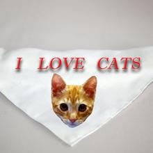 "Kutya kendő ""I love Cats"" felirattal"
