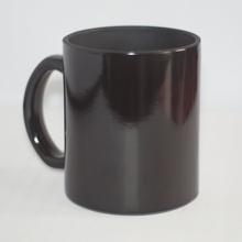 Mágikus fekete bögre egyedi fényképpel