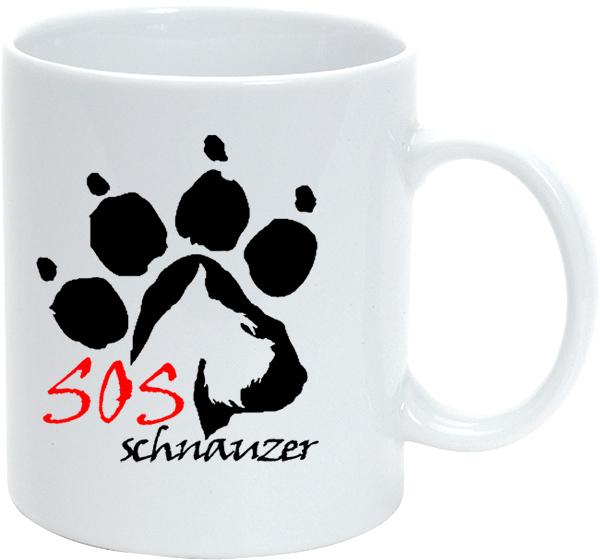 Bögre Schnauzer Fajtamentés logóval