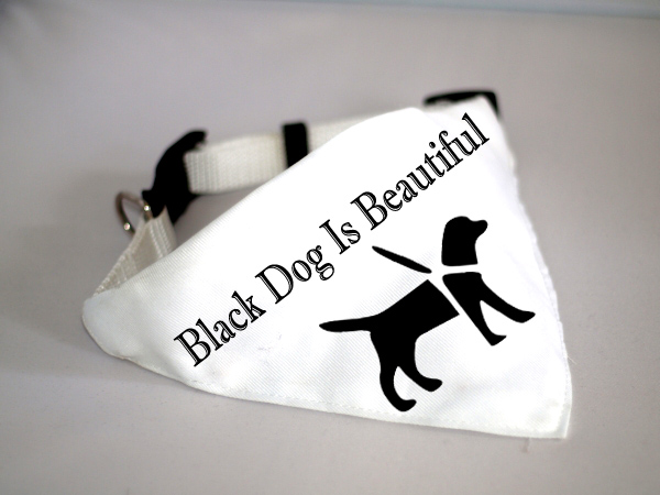 Black Dog Is Beautiful - kutyakendő