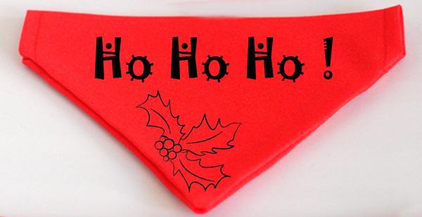 Karácsonyi mintás kutyakendő