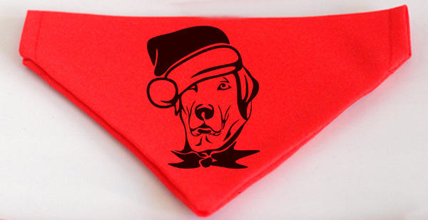 Piros karácsonyi kutyakendő
