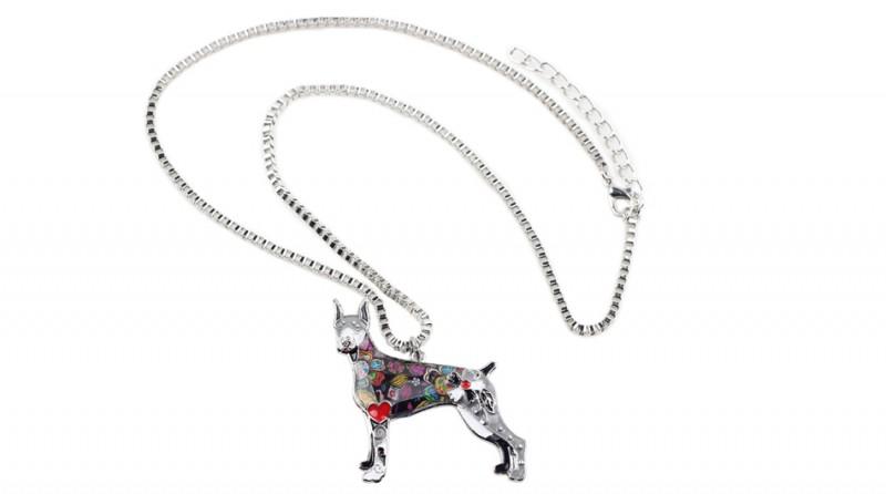 df87fcbff9 Dobermann tűzzománc nyaklánc | [Bol-dog] Egyedi kutyás ajándéktárgyak