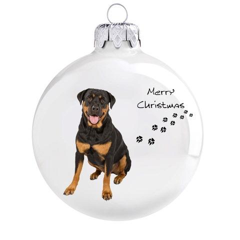 Rottweiler mintás karácsonyi gömb