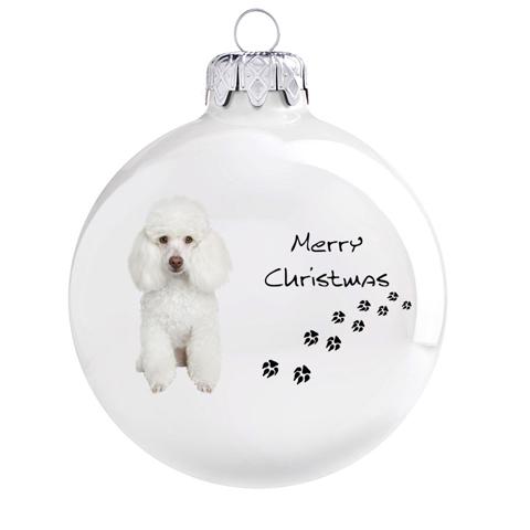 Uszkár mintás karácsonyi gömb szett