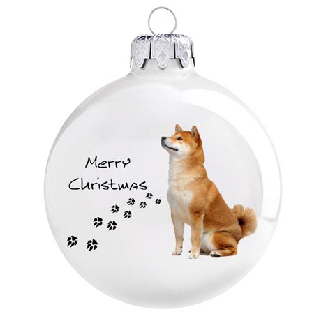 Akita mintás karácsonyi gömb szett