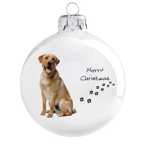 Labrador mintás karácsonyi gömb