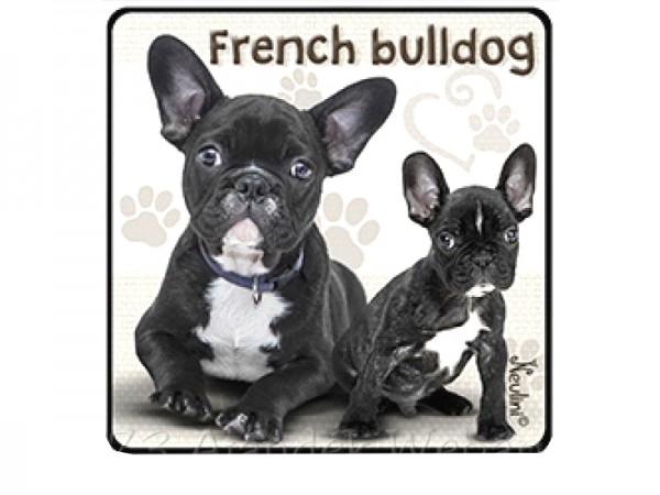 Francia bulldogos hűtőmágnes