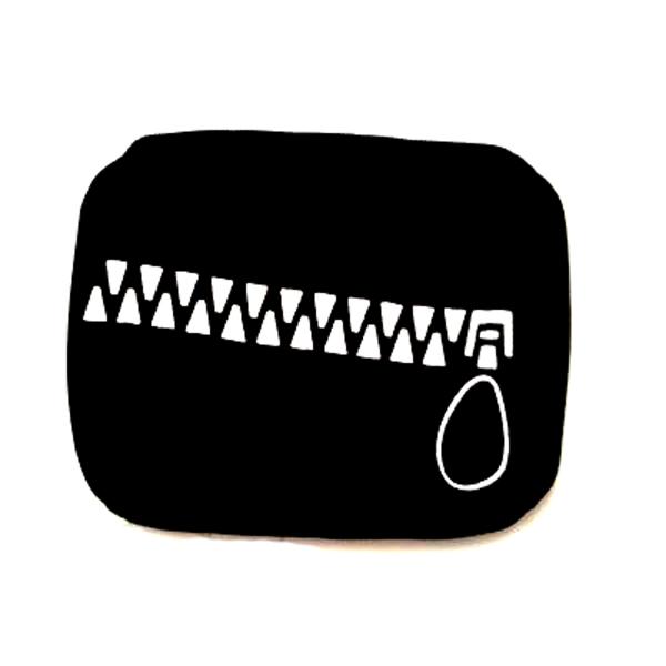 Fekete arcmaszk zipzár motívummal