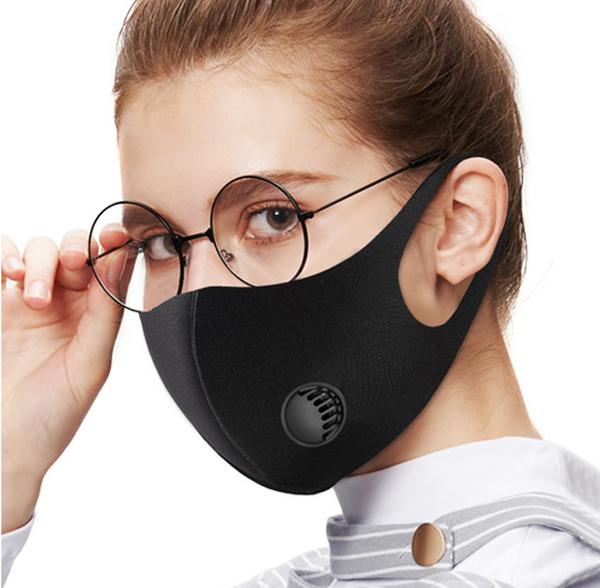 Fekete szájmaszk légzéskönnyítő szeleppel