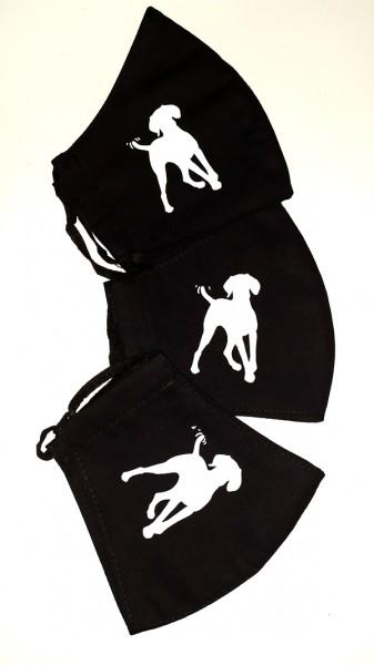 Vizsla mintás fekete varott maszk
