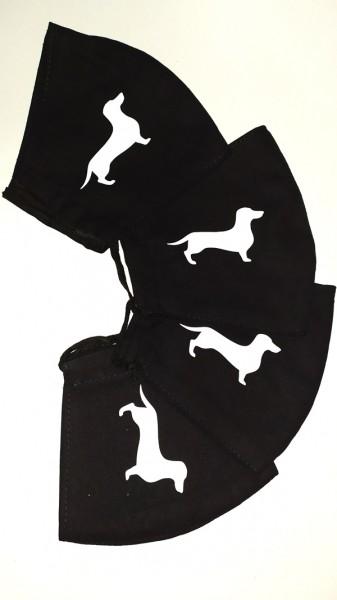 Tacskó mintás fekete varott maszk