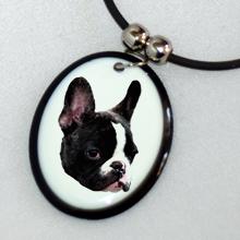 medál francia bulldog képpel