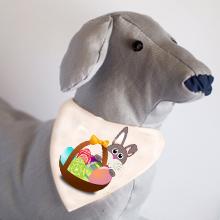 Húsvéti mintás kutyakendő