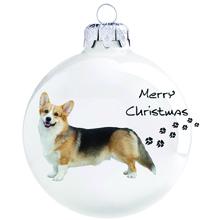Corgi mintás karácsonyi gömb szett
