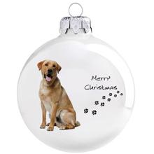 Labrador mintás karácsonyi gömb szett