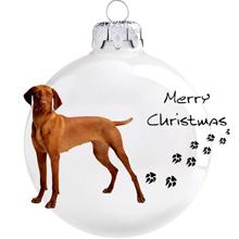 Vizsla mintás karácsonyi gömb