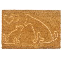 Kutya - cica mintás kókusz lábtörlő