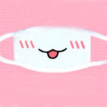 Nyelvkiöltős fehér szájmaszk