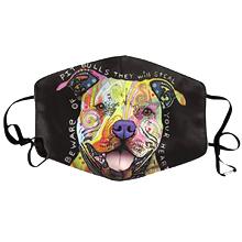 Pitbull kutya mintás színes arcmaszk