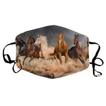 Lovas arcmaszk szűrőtartóval lovasoknak
