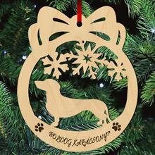 Tacskós fa karácsonyfa dísz