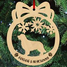 Golden retriever kutyás fa karácsonyfa dísz