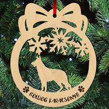 Németjuhászos fa karácsonyfa dísz