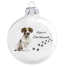 Jack Russell terrier mintás karácsonyi gömb szett