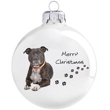 Staffordshire terrier mintás karácsonyi gömb szett