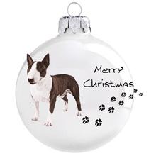 Bullterrier mintás karácsonyi gömb szett