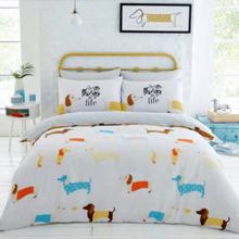Színes tacsi mintával díszített kétszemélyes ágynemű szett