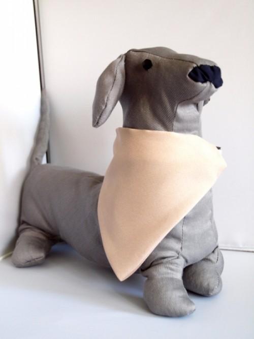 egyedi bézs kutya kendő