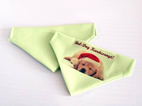 karácsonyi ajándék a kutyakendő