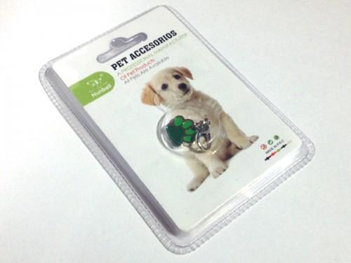 Tappancsos kutyékszer - zöld
