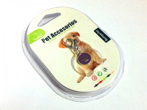 Tappancsos kutyaékszer - lila