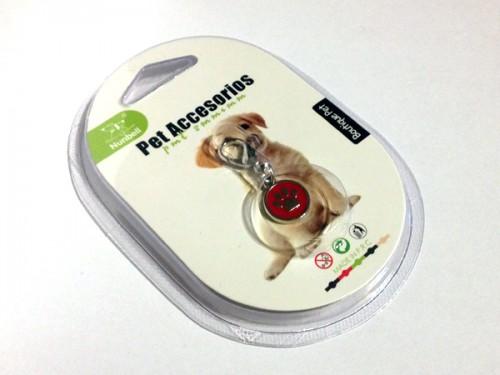 Tappancsos kutyaékszer - bordó