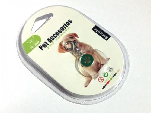 Tappancsos kutyaékszer - sötétzöld