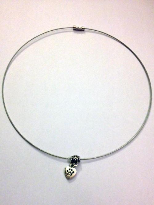 Tappancsos-szíves nyaklánc