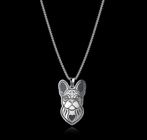 french bulldog neclace