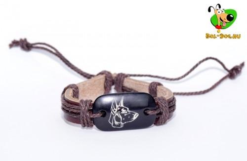 Dobermann unisex bőr karkötő