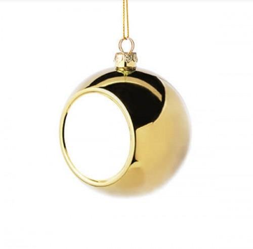 Karácsonyi egyedi fényképes arany gömb