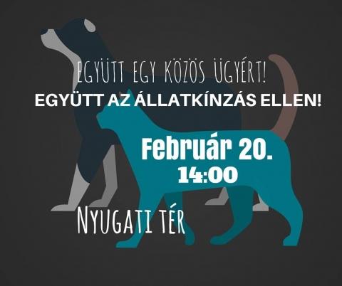állatkínzás elleni tüntetés Budapest