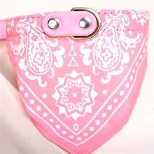 Mintás kutyakendő nyakörvvel - Rózsaszín