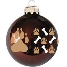 Kutya mancs mintás karácsonyi gömb szett