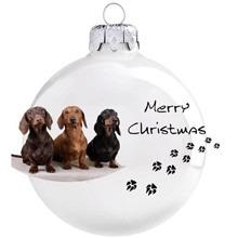 Tacskó mintás karácsonyi gömb szett