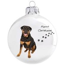 Rottweiler mintás karácsonyi gömb szett