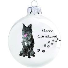 Mudi mintás karácsonyi gömb szett