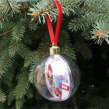 Karácsonyi egyedi fényképes fotógömb - nagy